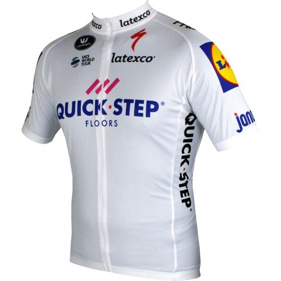 2018 Maillot Ciclista Manga Corta (Relámpago Largo, Blanco) Quick-Step Floors Tour Special Edition