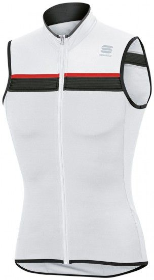 Maillot Ciclista Sin Mangas Pista (Blanco)