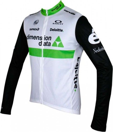 2016 Maillot De Manga Larga (Relámpago Completo) Dimension Data
